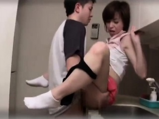 Japanese cutie hairy pussy rammed
