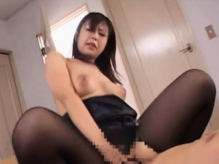 Tempting nipponese mature floozy feverish wide of big cock