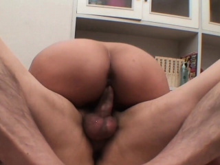 Blistering Asian babe gets the brush hairy pussy fucked