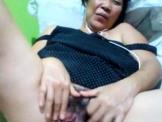 Filipino granny 58 having it away me stupid atop cam. (Manila)1